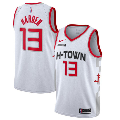 Men's Houston Rockets #13 James Harden White 2019 City Edition Stitched NBA Jersey