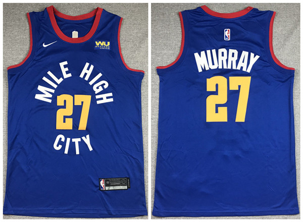 Men's Denver Nuggets #27 Jamal Murray Blue Stitched NBA Jersey