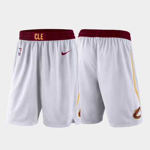 Men's Cleveland Cavaliers White Shorts (Run Smaller)