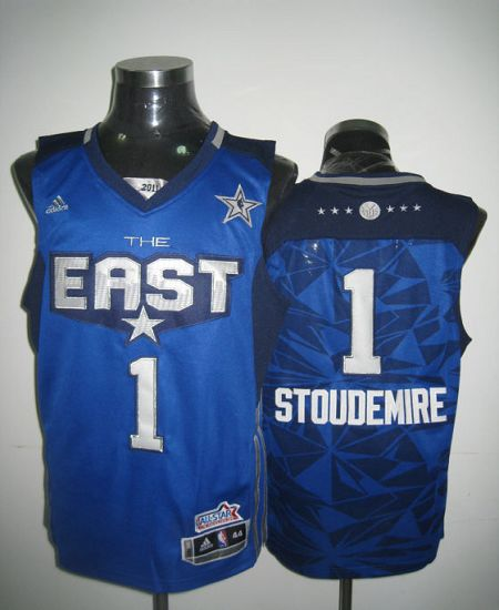 2011 All Star Knicks #1 Amar'e Stoudemire Blue Stitched NBA Jersey