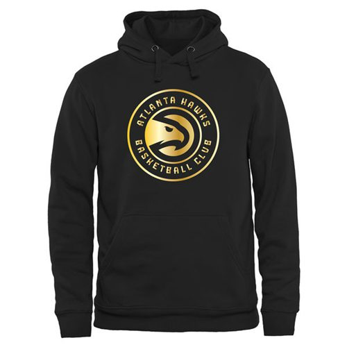 Atlanta Hawks Gold Collection Pullover Hoodie Black
