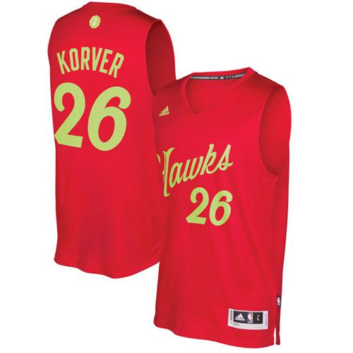 Hawks #26 Kyle Korver Red 2016-2017 Christmas Day Stitched NBA Jersey