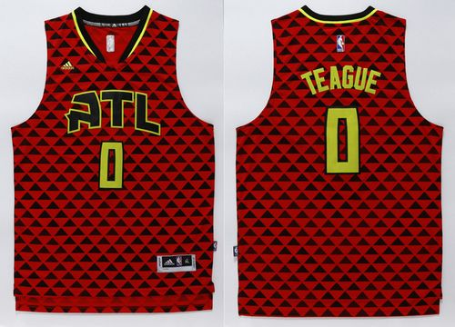 Hawks #0 Jeff Teague Red Swingman Stitched NBA Jersey