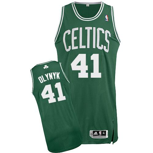 Revolution 30 Celtics #41 Kelly Olynyk Green(White No.) Stitched NBA Jersey