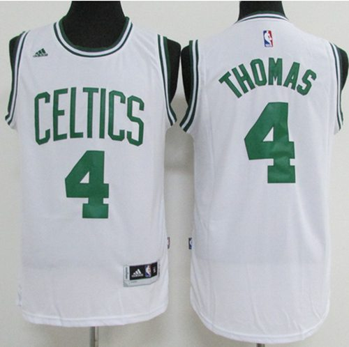 Celtics #4 Isaiah Thomas White Stitched NBA Jersey