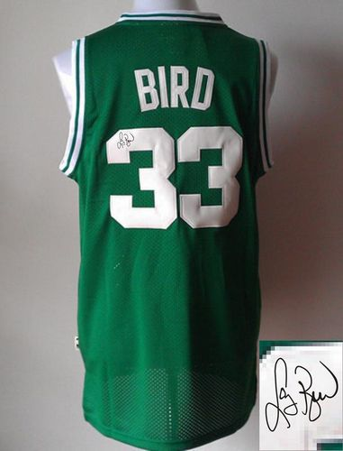 Revolution 30 Autographed Celtics #33 Larry Bird Green Stitched NBA Jersey