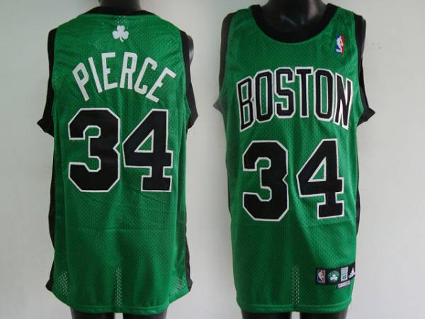 Celtics #34 Paul Pierce Stitched Green Black Number NBA Jersey