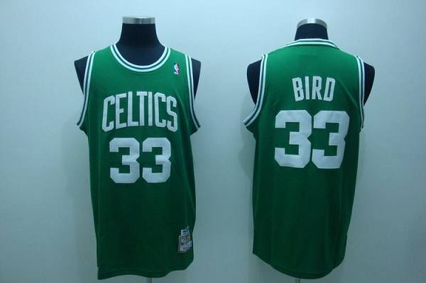 Mitchell and Ness Celtics #33 Larry Bird Stitched Green Throwback NBA Jersey