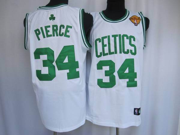 Celtics #34 Paul Pierce Stitched White Final Patch NBA Jersey