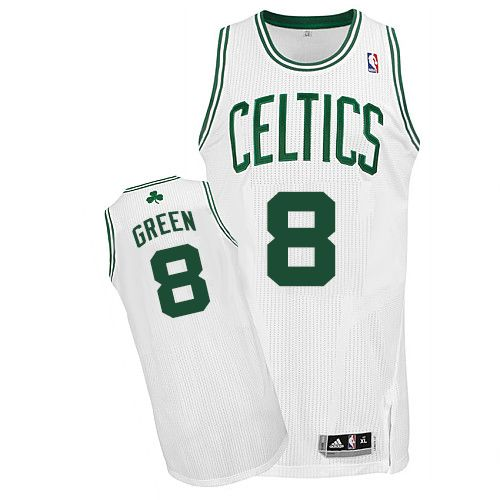 Revolution 30 Celtics #8 Jeff Green White Stitched NBA Jersey