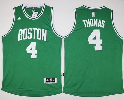 Celtics #4 Isaiah Thomas Green Stitched NBA Jersey