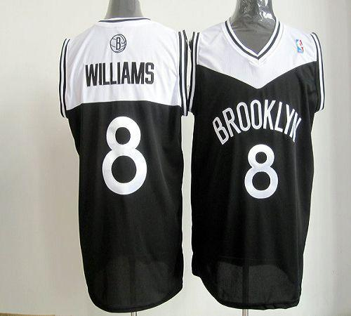 Nets #8 Deron Williams Black Road Revolution 30 Stitched NBA Jersey