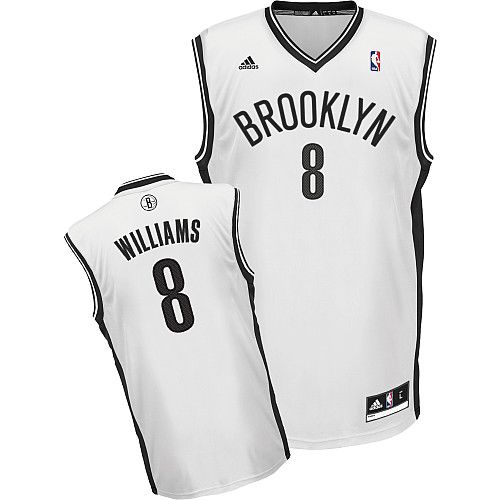 Nets #8 Deron Williams White Home Revolution 30 Stitched NBA Jersey