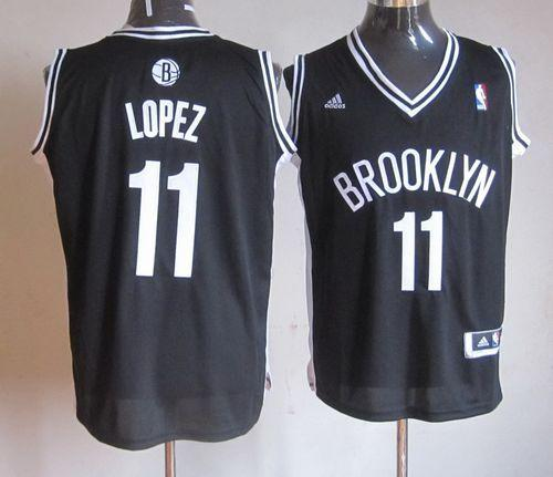Nets #11 Brook Lopez Black Road Stitched NBA Jersey