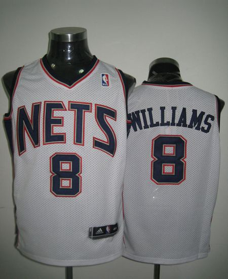 Revolution 30 Nets #8 Deron Williams White Stitched NBA Jersey