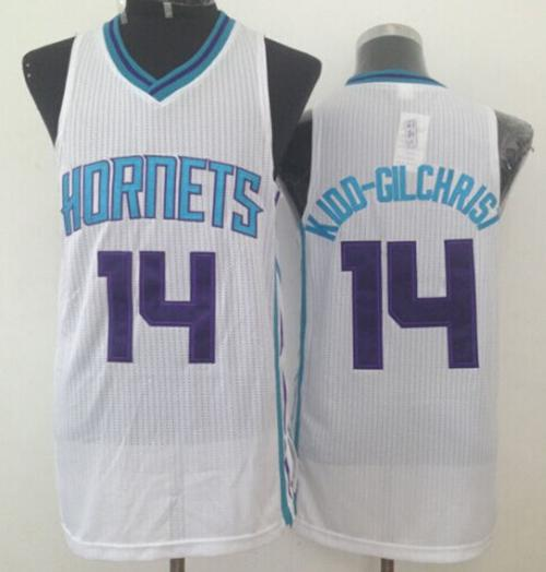 Revolution 30 Hornets #14 Michael Kidd-Gilchrist White Stitched NBA Jersey
