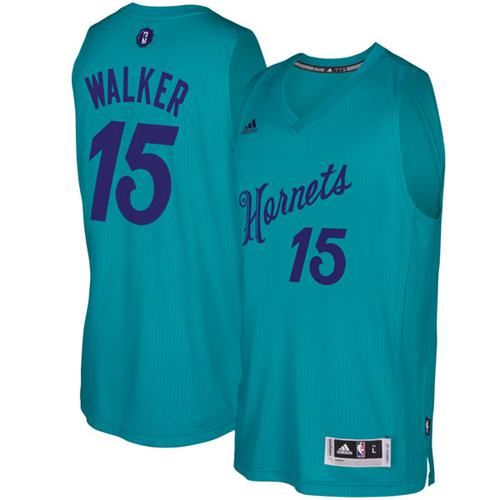 Hornets #15 Kemba Walker Teal 2016-2017 Christmas Day Stitched NBA Jersey