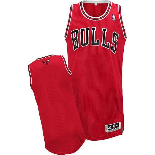 Revolution 30 Bulls Blank Red Stitched NBA Jersey