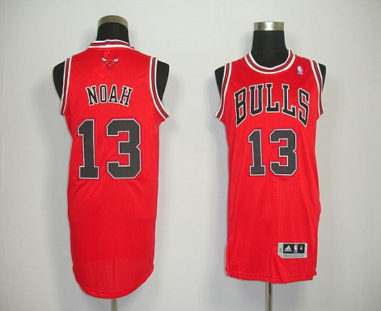 Revolution 30 Bulls #13 Joakim Noah Red Stitched NBA Jersey