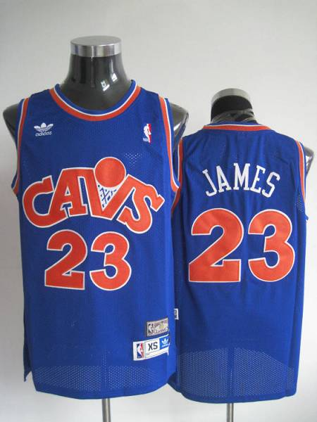 Mitchell and Ness Cavaliers #23 LeBron James Stitched Blue CAVS NBA Jersey