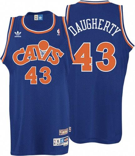 Cavaliers #43 Brad Daugherty Blue CAVS Throwback Stitched NBA Jersey