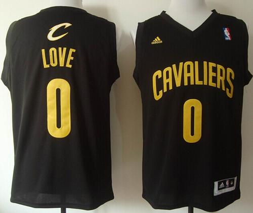 Cavaliers #0 Kevin Love Black Fashion Stitched NBA Jersey