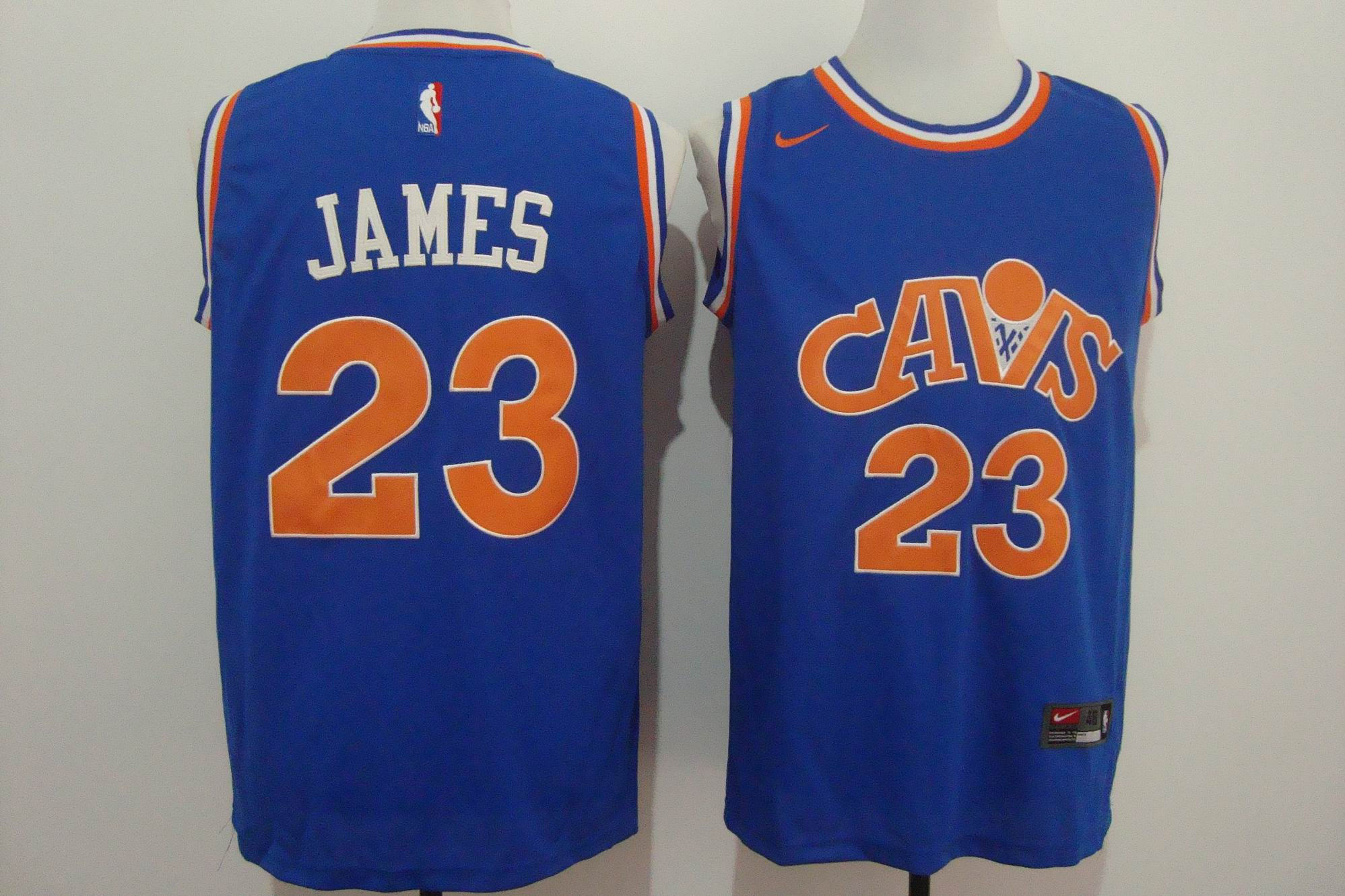 Men's Nike Cleveland Cavaliers #23 LeBron James Blue Stitched NBA Jersey