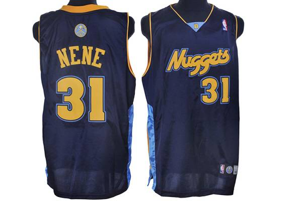 Nuggets #31 Nene Hilario Stitched Dark Blue NBA Jersey
