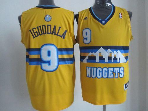 Nuggets #9 Andre Iguodala Yellow Alternate Stitched NBA Jersey