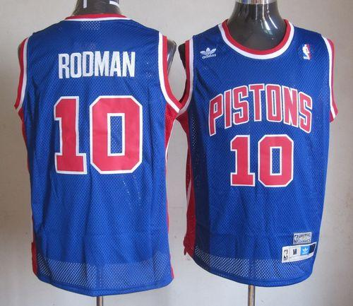 Throwback Pistons #10 Richard Rodman Blue Stitched NBA Jersey
