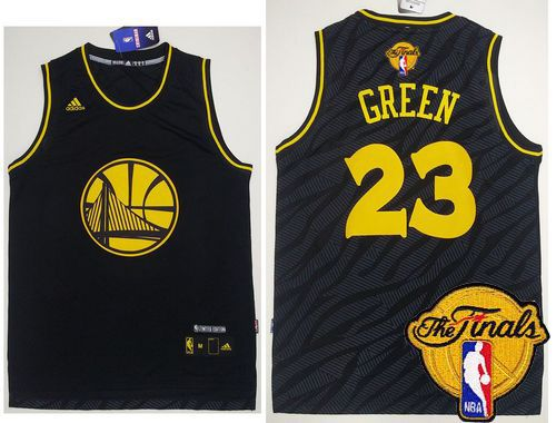 Warriors #23 Draymond Green Black Precious Metals Fashion The Finals Patch Stitched NBA Jersey