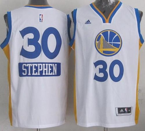 Warriors #30 Stephen Curry White 2014-15 Christmas Day Stitched NBA Jersey