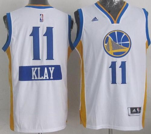 Warriors #11 Klay Thompson White 2014-15 Christmas Day Stitched NBA Jersey