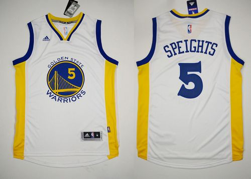 Revolution 30 Warriors #5 Marreese Speights White Stitched NBA Jersey