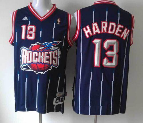 Rockets #13 James Harden Navy Hardwood Classic Fashion Stitched NBA Jersey