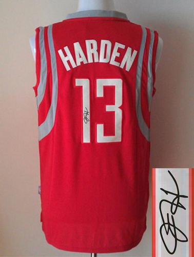 Revolution 30 Autographed Rockets #13 James Harden Red Stitched NBA Jersey