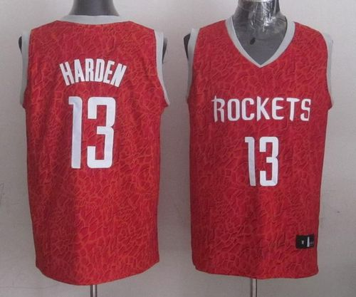 Rockets #13 James Harden Red Crazy Light Stitched NBA Jersey
