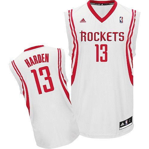 Revolution 30 Rockets #13 James Harden White Home Stitched NBA Jersey