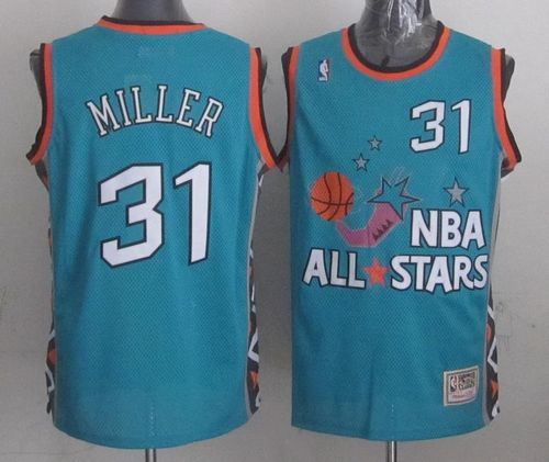 Mitchell And Ness Pacers #31 Reggie Miller Light Blue 1996 All Star Stitched NBA Jersey