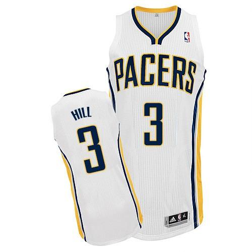 Revolution 30 Pacers #3 George Hill White Road Stitched NBA Jersey