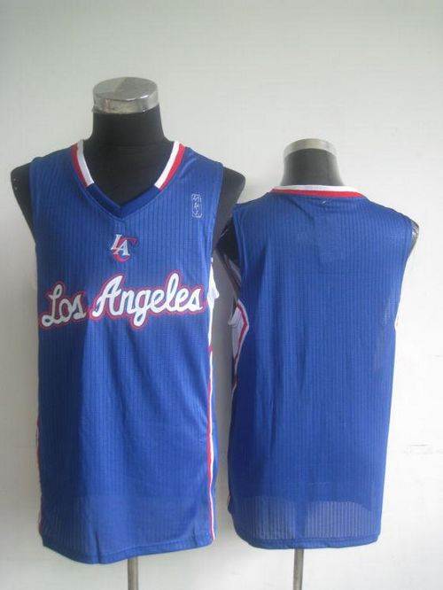 Revolution 30 Clippers Blank Blue Stitched NBA Jersey