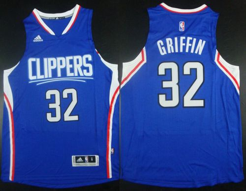 Clippers #32 Blake Griffin Stitched Blue NBA Jersey