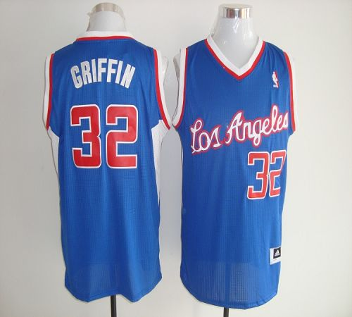 Clippers #32 Blake Griffin Blue Revolution 30 Stitched NBA Jersey