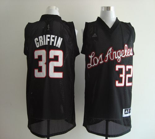 Clippers #32 Blake Griffin Black Revolution 30 Stitched NBA Jersey