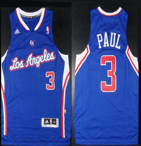 Clippers #3 Chris Paul Blue Revolution 30 Stitched NBA Jersey
