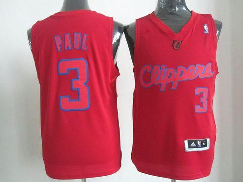 Clippers #3 Chris Paul Red Big Color Fashion Stitched NBA Jersey
