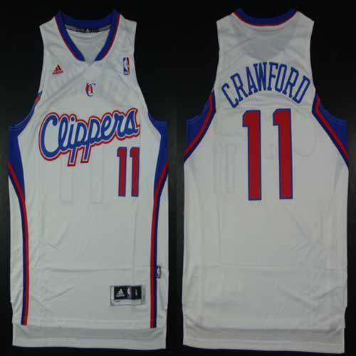 Clippers #11 Jamal Crawford White Home Stitched NBA Jersey