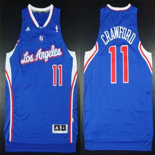 Clippers #11 Jamal Crawford Blue Alternate Stitched NBA Jersey