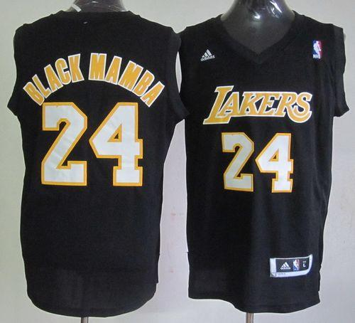Lakers #24 Kobe Bryant Black Mamba Fashion Stitched NBA Jersey