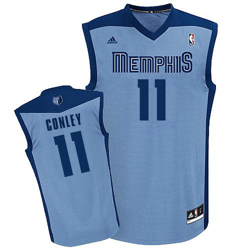 Revolution 30 Grizzlies #11 Mike Conley Light Blue Stitched NBA Jersey